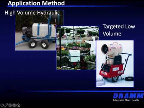 Dramm Chemical Application Plant Health Webinar Series - Understanding Greenhouse Spray Equipment