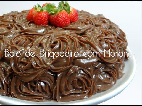 Brigadeiro em ponto de bico - Bolo de Brigadeiro com Morango - por Bem Vindos à Cozinha   Receita 23