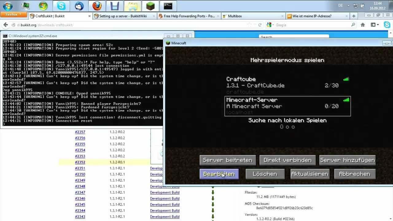 Öffentlichen Minecraft Bukkit Server Ohne Hamachi Erstellen Deutsch - Minecraft server erstellen hamachi anleitung