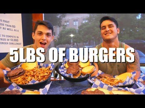 5lb Burger Challenge 4,000 Calories