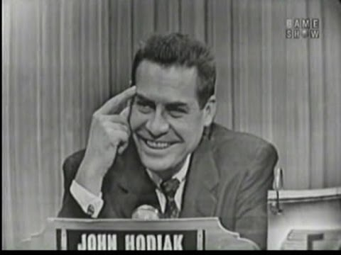 What's My Line?  John Hodiak; David Wayne panel Feb 7, 1954