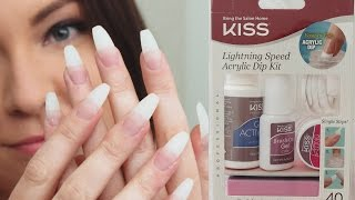 Kiss Lightning Speed Acrylic Dip Kit | Demo First Impression
