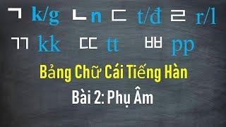 [Tiếng Hàn Nhập Môn] Bảng Chữ Cái Tiếng Hàn   Bài 2: Phụ Âm   Hàn Quốc Sarang