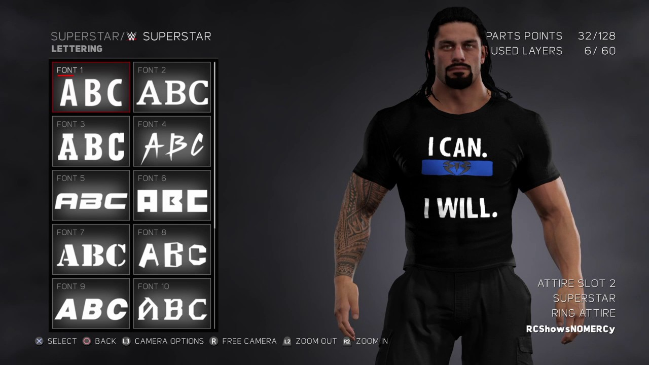 wwe 2k17 roman reigns i can i will shirt attire youtube