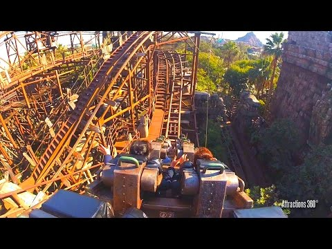 [HD] Raging Spirits Coaster - Ancient Ruins Themed Roller Coaster - Tokyo DisneySea