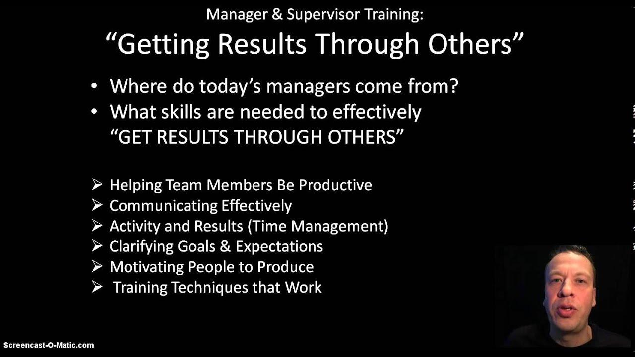 manager supervisor leadership training introduction manager supervisor leadership training introduction