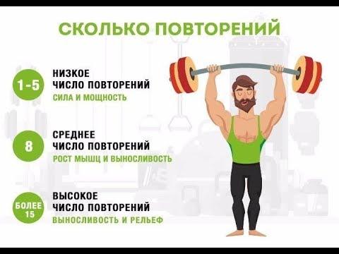 Основные принципы тренировки на силу, массу, мощность и выносливость.