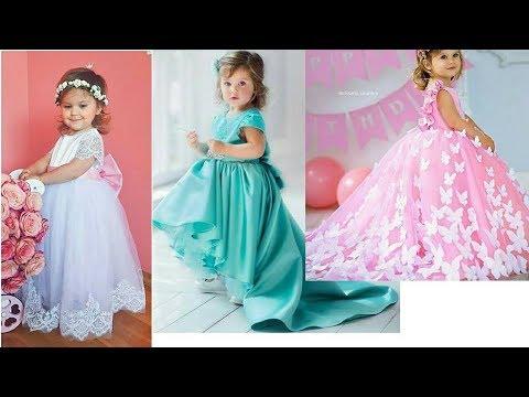 Latest Baby girls fancy gowns/frocks desins 2018/kids party wear ...