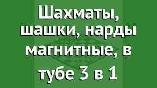 Шахматы, шашки, нарды магнитные, в тубе 3 в 1 (BoyScout) обзор 61454