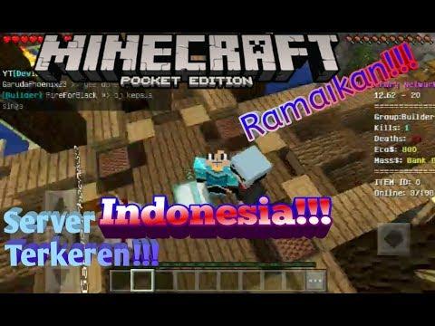 Server Minecraft Pe Indonesia!!! Terbaik??? Yuk Lah Coba!!!