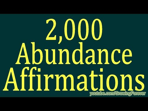 2,000 ★POWERFUL★ Abundance Affirmations & Images - Wealth Money Prosperity Cash Law of Attraction #1