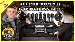 Jeep Rugged Ridge Spartan Bumper and Badland ZXR Winch Install and Review