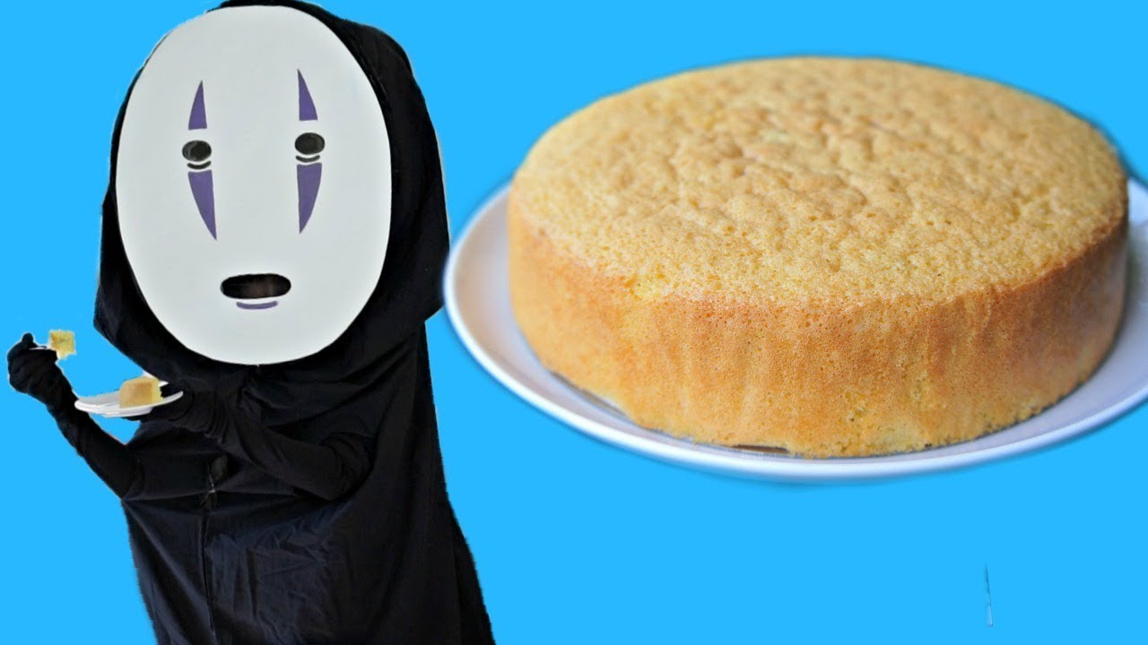Japanese Sponge Cake Recipe Youtube: DIY NO FACE Costume & Japanese Sponge Cake Recipe