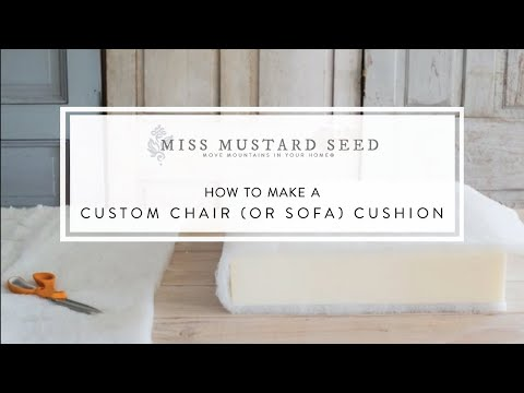 how to make a custom chair or sofa cushion miss mustard seed youtube. Black Bedroom Furniture Sets. Home Design Ideas