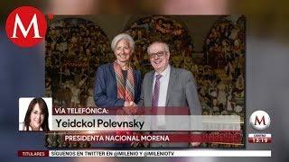 Se vale disentir, dice Yeidckol Polevnsky sobre renuncia de Urzúa