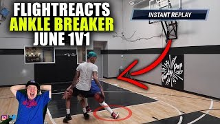 Reacting To FlightReacts Ankle Breaking 1V1 Against TheFlightMike!