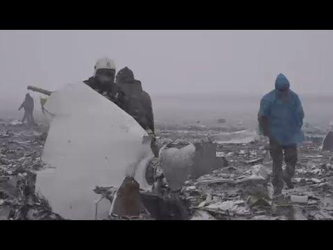 RAW: FlyDubai Boeing-737 Crash Site In Rostov-on-Don, Russia (EMERCOM Footage)