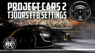 Project Cars 2 Force Feedback settings guide for the Thrustmaster T300RS