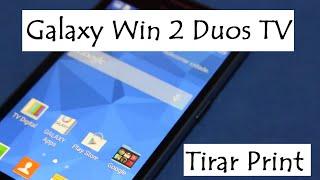Galaxy Win 2 Duos TV G360B 8GB 4G | Tirar Print - Captura e foto da Tela