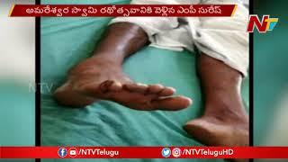 MP Nandigam Suresh Convoy Car Hits Amaravati Farmer