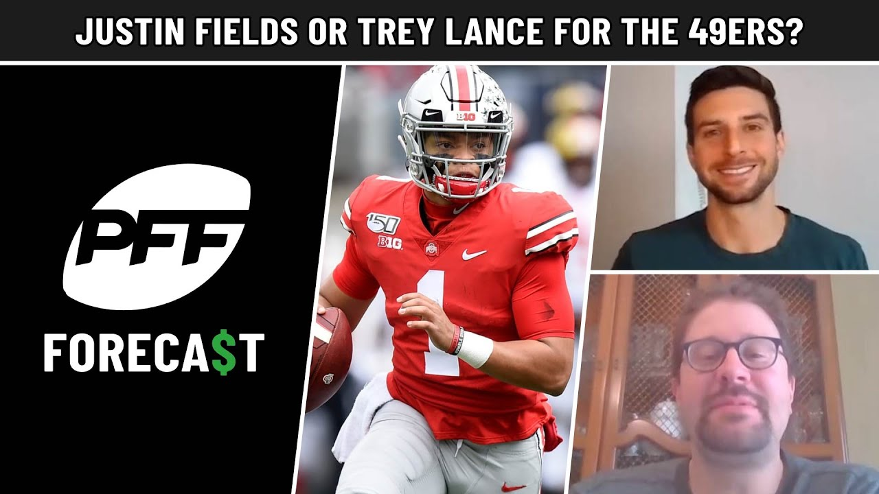 Fields vs Lance for 49ers, Dolphins trades, Eagles next move, Top-10 market mock & more | PFF
