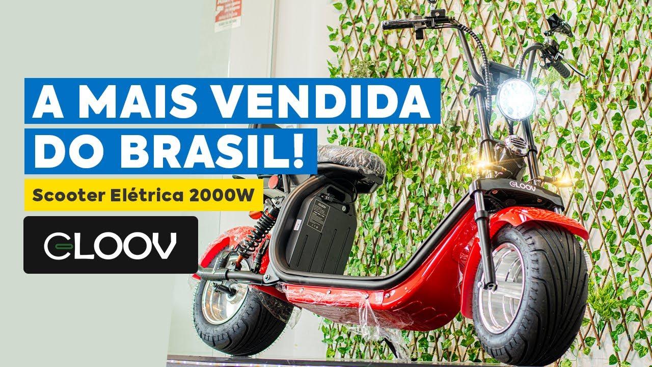 SCOOTER ELÉTRICA 2000W GLOOV - A MAIS VENDIDA!