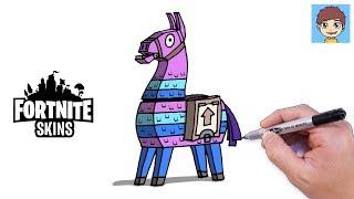 Comment Dessiner Fortnite Llama Facilement - Dessin Facile a Faire - Dessin Fortnite