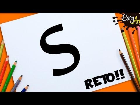 Sacar Un Dibujo De La Letra Sdibujos Fáciles Easy Art Youtube