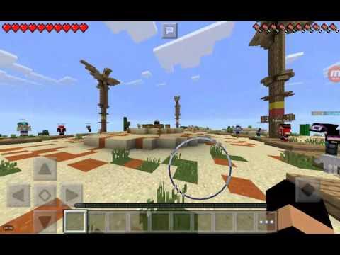 Jugando Minecraft
