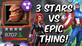 3 Stars VS Epic Thing - Captain America & Black Widow - Marvel Contest of Champions