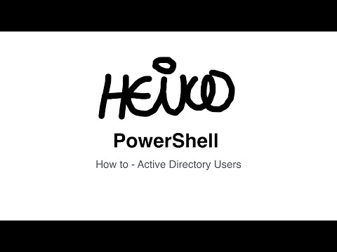 Windows PowerShell - How to - Active Directory Users
