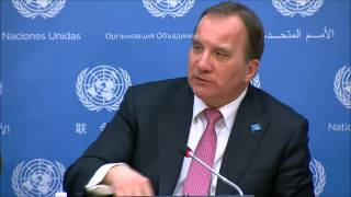 ICP asks Swedish PM Stefan Lofven About IMF, Greece - & Saudi Arabia, Ethical Foreign Policy