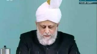 khutba juma - 28-oct-2011- jmaat ahmadiyya khalifa tul masih khamis  atba - 4