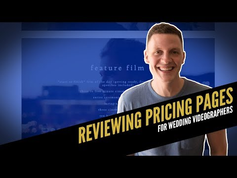 REVIEWING PRICING PAGES For Wedding Videographers 001 🎥🎥   How To Film Weddings