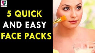 5 Quick and Easy Face Packs - Health Sutra - Best Health Tips
