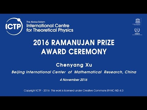 2016 RAMANUJAN PRIZE AWARD CEREMONY