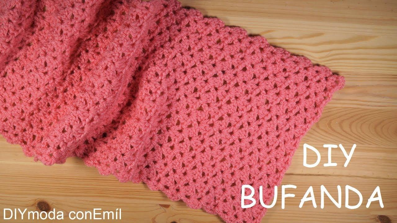 Bufanda a crochet rápida y fácil paso a paso - YouTube