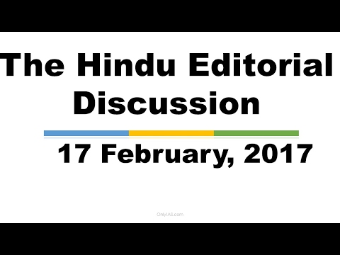Hindi,17 February, 2017, The Hindu Editorial Discussion, State funding of Elections