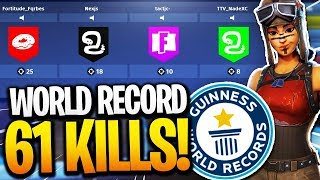 *NEW* Fortnite WORLD RECORD! 61 KILLS in ONE MATCH!