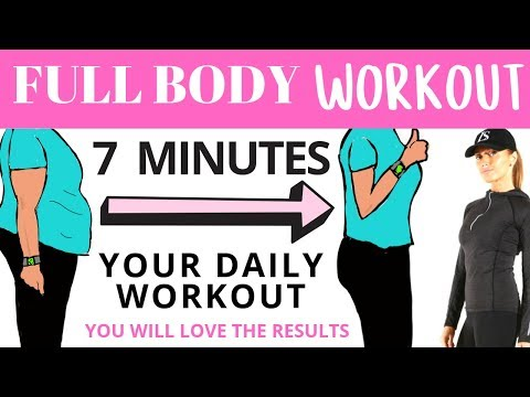 FULL BODY WORKOUT 7 MINUTE WORKOUT FOR WEIGHT LOSS BELLY FAT WORKOUT BY LUCY WYNDHAM-READ