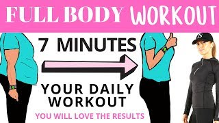 FULL BODY WORKOUT -  7 MINUTE WORKOUT FOR WEIGHT LOSS - IDEAL AS A MORNING ROUTINE - HIIT WORKOUT