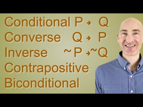 Converse, Inverse, Contrapositive, Biconditional Statements