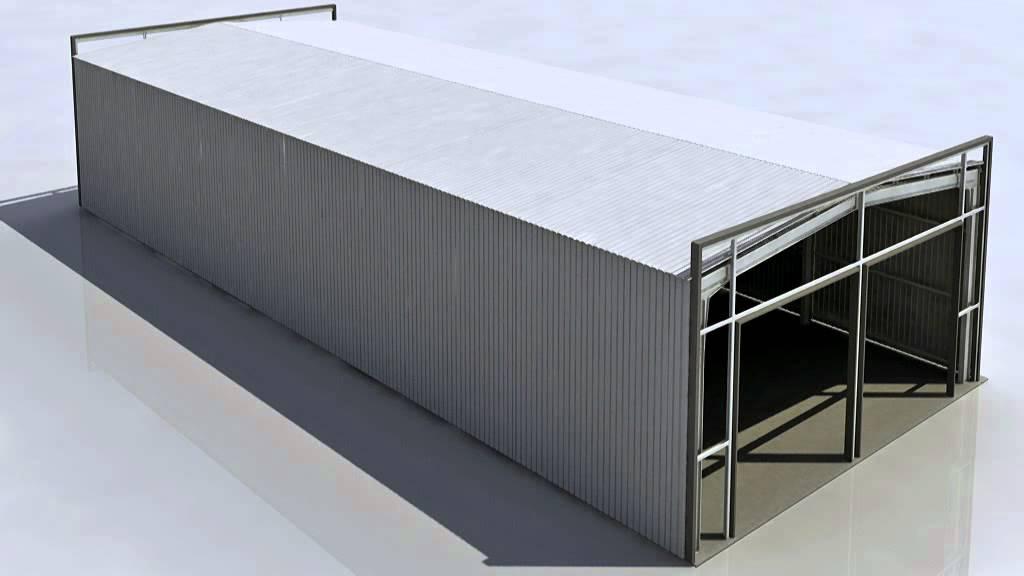 Nave desmontable de m dulos arco youtube for Naves prefabricadas de ocasion