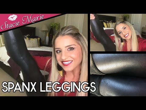 SPANX LEGGINGS - Faux Black Leather (Review/Opinion)