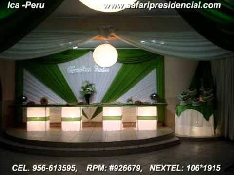 Decoracion en ica verde manzana youtube for Imagenes de techos decorados