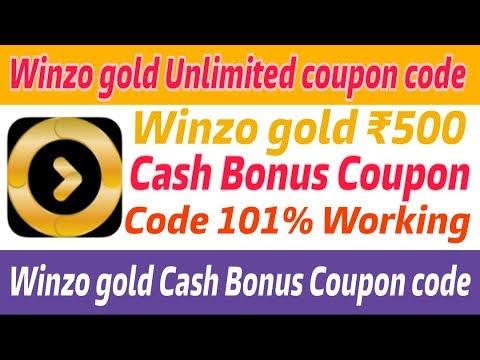 Winzo Gold Cash bonus coupon code | Winzo gold ₹500 Cash bonus coupon code | Winzo gold coupon code