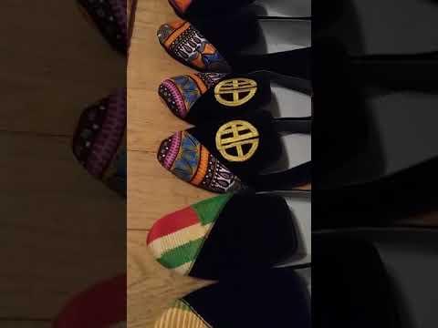 Dashiki loafers by Missy EWA London