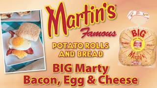 Bacon Egg Cheese Big Marty Sandwich