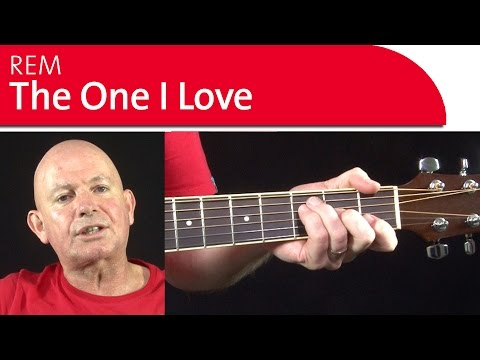 The One I Love -  REM Guitar Lesson - Backing Track