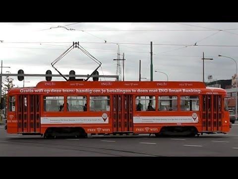 tram, including PCC streetcar, Antwerp, Belgium, 25 november 2013